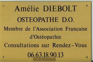 Plaque de l'ostéopathe